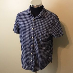 Lucky Brand mens L slim fit linen shirt EUC